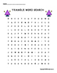 Free Word Search Puzzle Printable Triangles Worksheet