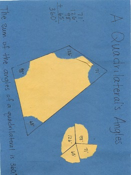 Triangle and Quadrilateral Angles Discovery Activity