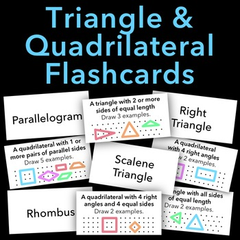 Triangle and Quadrilateral Flashcards - SUMMER GEOMETRY PRACTICE