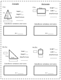 Triangle and Rectangle Area notes and practice