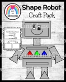 Shape Robot Craft for Kindergarten (Triangle and Rectangle)