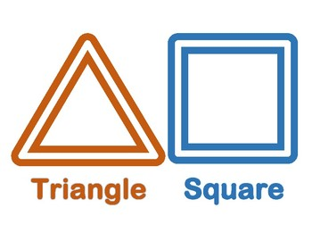 Triangle and Square Play Doh Shapes