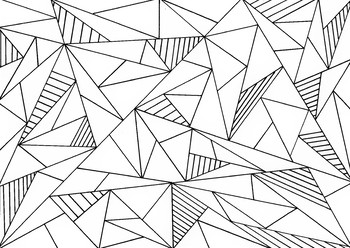 Triangle coloring sheet