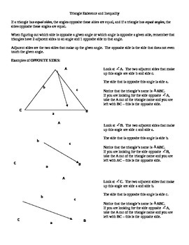 Triangle inequality and existence