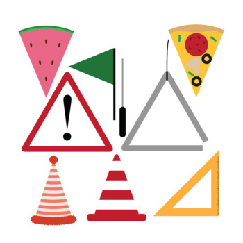 Triangle object. Objects d clip art