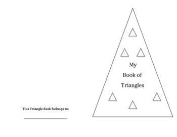 Triangle shape book