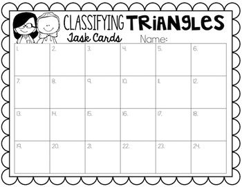 Triangles Task Cards
