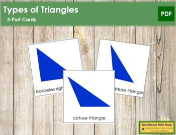 Triangles: 3-Part Cards (Complex Concepts)
