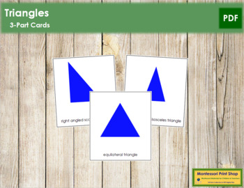 Triangles: 3-Part Cards (Simple Concepts)