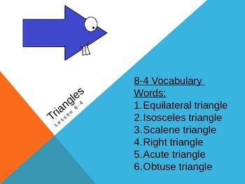 Triangles (5th Grade EnVision Math) by Fab 5th Fun | TpT