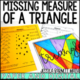 Missing Angle Measures of Triangles Activity Pack   Distance Learning   Digital