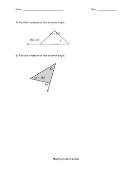 Triangles & Angles Lesson