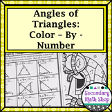 Triangles - Angles of Triangles Color-By-Number Wintery Worksheet