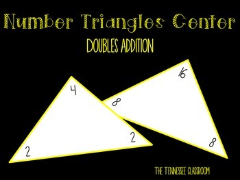 Triangles Center Cards-Doubles Facts!
