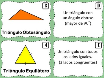 Triangles Classification by sides and angles-Clasificacion de Triangulos-Spanish