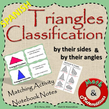 Triangles Classification by sides and angles-Clasificacion