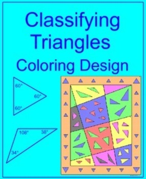 Triangles - Classifying Triangles Coloring Activity