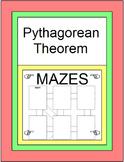 Pythagorean Theorem  and Converse of Pythagorean Theorem 3 MAZES & 10 warm ups