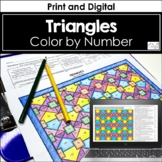 Triangles Color by Number