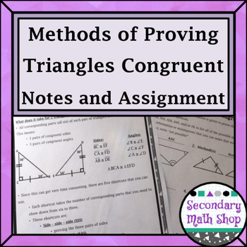 Triangles/Congruency #5 - 5 Methods of Proving Triangles C