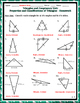 Triangles & Congruency Unit #1 - Properties & Classifications Notes and Homework