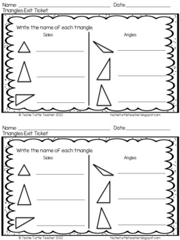 Triangles Exit Ticket