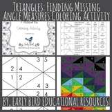 Triangles: Finding Missing Angle Measures Coloring Activity