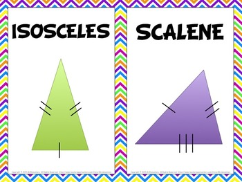 Triangles Vocabulary Interactive Notebook