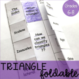 Identifying and Classifying Triangles Foldable Note 7.G.2