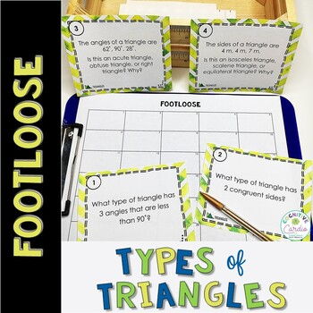 Triangle Task Cards - Footloose Activity