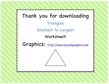 Triangles - From Smallest to Largest