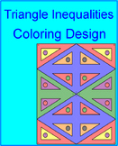 TRIANGLE INEQUALITIES:  ORDERING SIDES AND ANGLES COLORING ACTIVITY