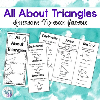Triangles Interactive Notebook Foldable