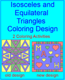 Triangles - Isosceles and Equilateral - 2 Coloring Designs