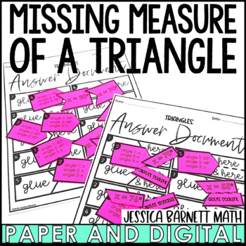 Triangles Matching Activity