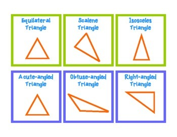 Triangles Matching Cards