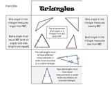 Triangles Math Foldable