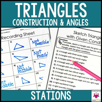 Triangles Middle School Math Stations