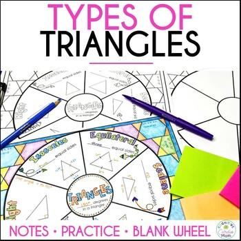 Triangles Math Wheel