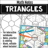 Triangles Math Wheel