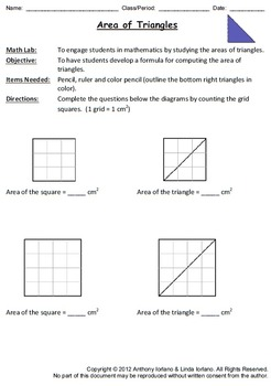 All About Triangles (Mathematics / Geometry / Math Labs / Forms)