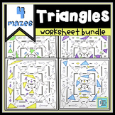 Triangles Worksheet Bundle | Distance Learning for Packets