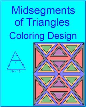 midsegments of triangles coloring activity tpt. Black Bedroom Furniture Sets. Home Design Ideas