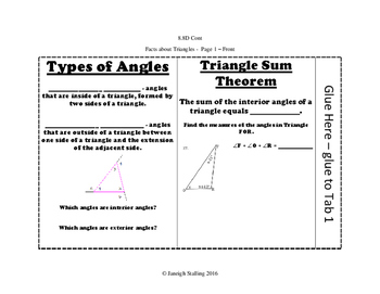 Triangles, Parallel Lines, and Transversals INB-TEKS 8.8D