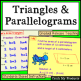 Area of Triangles and Area of Polygons Parallelograms Power Point