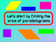 Area of Triangles and Parallelograms PowerPoint