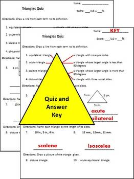 Triangles - Print and go activities