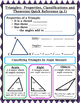Triangles - Properties, Classifications Theorems Graphic Org/Reference Sheets