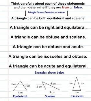 Triangles Properties Classifying by Sides and Angles Smartboard Lesson