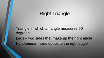 Triangles & Pythagorean Theorem